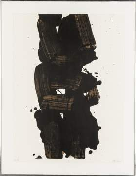 "Pierre Soulages (French, born 1919) ""Gres"""