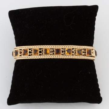 Citrine and 14k Gold Bracelet
