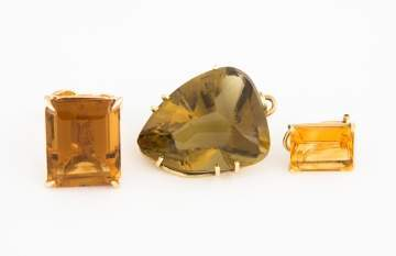 Citrine Ring, Pendant and Earring