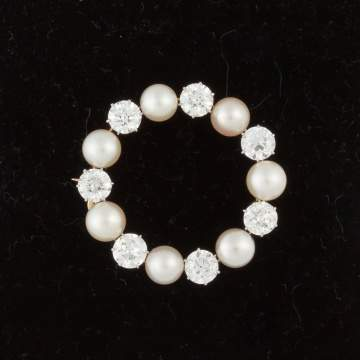 Tiffany & Co. Pearl & Diamond Brooch