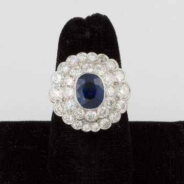Teufel 14K Sapphire and Diamond Ring
