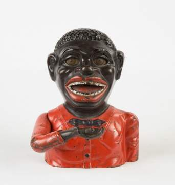 Shepard Hardware Black Boy Cast Iron Mechanical Bank