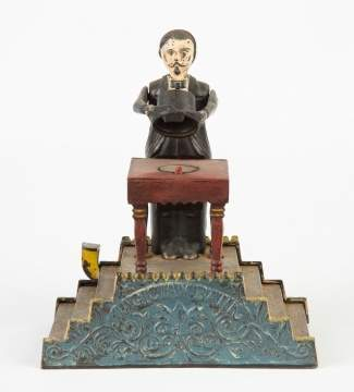 Magician Cast Iron Mechanical Bank