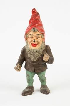 Painted Gnome Cast Iron Doorstop