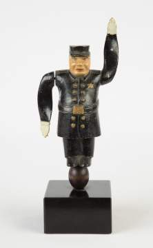 Cast Metal and Wood Policeman Whirly-Gig