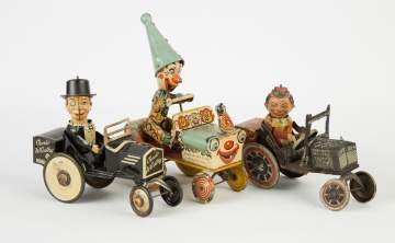 Three Vintage Tin Lithograph Windup Toys