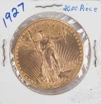 1927 Liberty Head $20 Gold Coin