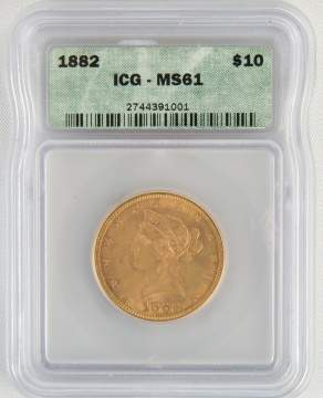 1882 Liberty Head $10 Gold Coin