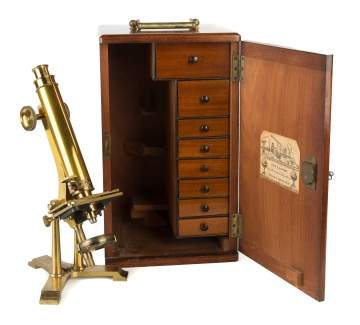 John B. Dancer Brass Microscope