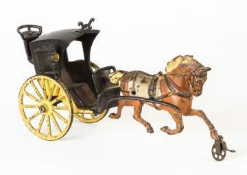 Cast Iron Horse Drawn Cart