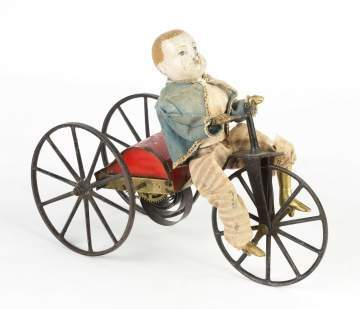 Boy on Velocipede Clockwork Toy
