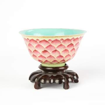 Chinese Porcelain Bowl with Artichoke Design