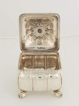 Fine and Rare Georg Jensen Sterling Silver Covered Box