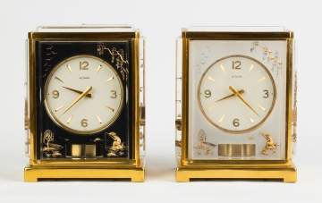 Le Coultre Atmos Clocks with Asian Motif