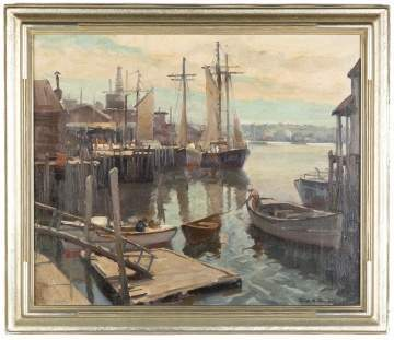 "Emile Gruppe (American, 1896-1978) ""Town Landing Gloucester"""