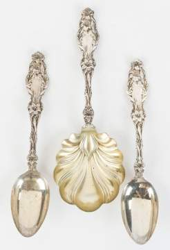 Whiting Sterling Silver Serving Pieces - Lily Pattern