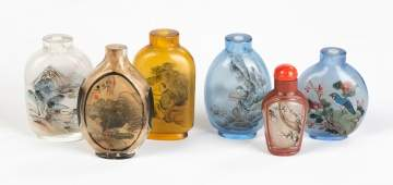 Six Chinese Inside Painted Snuff Bottles