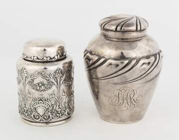 Whiting and Gorham Sterling Silver Tea Caddies