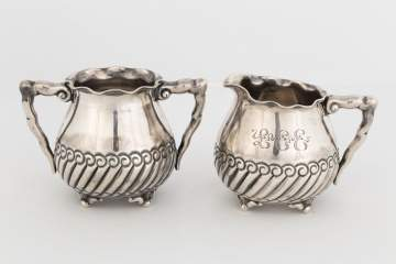 Gorham Sterling Silver Creamer and Sugar