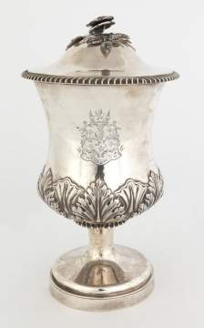 John and Edward Terry, London, Sterling Silver Covered Vase