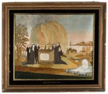 Fine and Rare Silk Needlework and Watercolor, Eunice Noyes