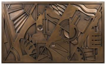 "Roy Lichtenstein (American, 1923-1997) ""Peace Through Chemistry"" Bronze"