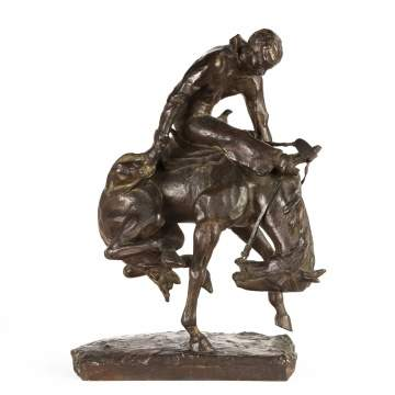 Gorham Bronze Sculpture of a Bronco Rider