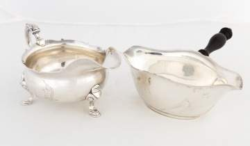 Georgian and Gorham Sterling Silver Sauce Boats