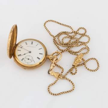 American Watch Co.18k Gold Pocket Watch