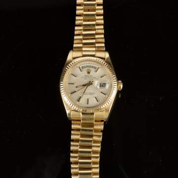 Gentleman's Presidential Gold Rolex Watch