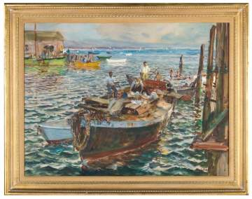 "John Whorf (American, 1903-1959) ""Provincetown  Harbor"""