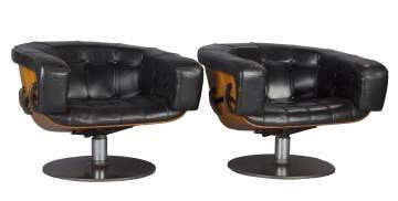 Rare Pair of Swivel Chairs Designed by Martin Grierson for Arflex, Italy