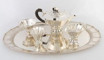Early and Rare Georg Jensen Sterling Silver Coffee Set #4