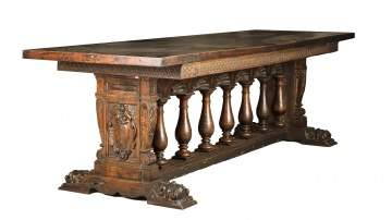 17th Century Italian Carved Walnut Refectory Table