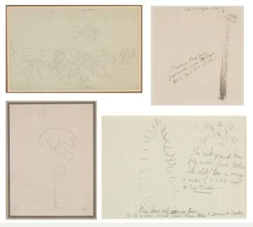 Charles Ephraim Burchfield (American, 1893-1967) Four Pencil Studies