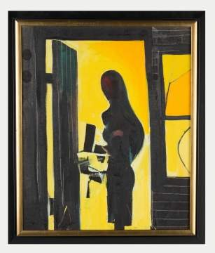 "John Hultberg (American, 1922-2005) ""Figure in Doorway"""