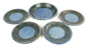 Newcomb Pottery Bowl and Plates