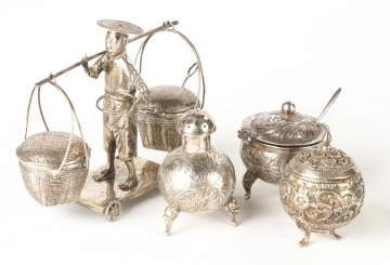 Chinese Export Silver Table Articles