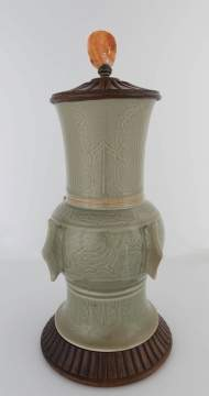 Celadon Incised Vase