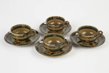 Four Deldare Tea Cups and Saucers