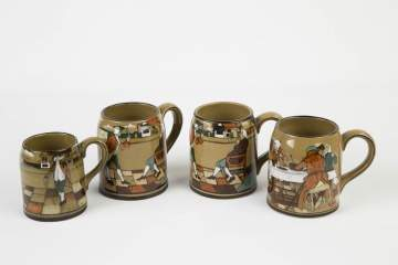 Four Deldare Mugs