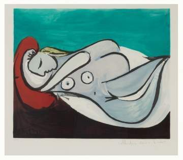 "After Pablo Picasso (Spanish, 1881-1973) ""Dormeuse a L'Oreiller Rouge"""