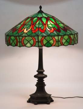 Arts and Crafts Leaded Glass Table Lamp