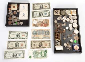 Collection of Coins & Currency
