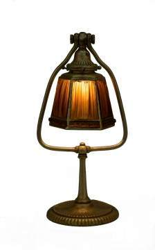 Tiffany Studios Linen Fold Desk Lamp
