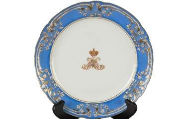 Set of Eight Russian Imperial Plates