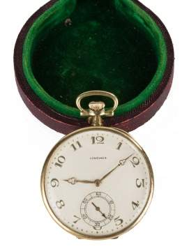 Logines 14K Gold Pocket Watch
