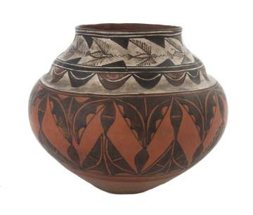 Native American Zia Pot