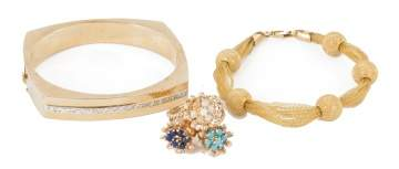 14K Gold Bracelets and Ring