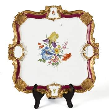 Meissen Handled Tray